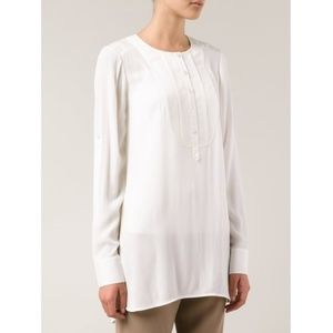 Vince Pleated Front Tunic Top Sz M